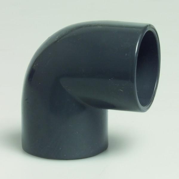 PVC Winkel 50/63mm-90°-16Bar-Klebemuffen