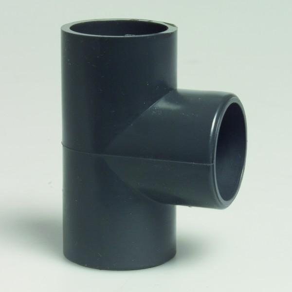 PVC-T-Stück-50/63mm-90°-16 Bar