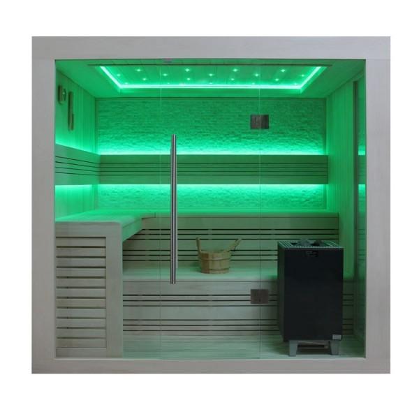 AWT BIO-Serie B1247 Pappelholz-Sauna 9kW EOS Bio-Max