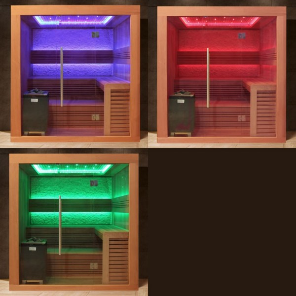 AWT rote Zeder-Sauna E1241 CUBO-OFEN