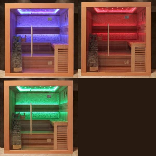 AWT rote Zeder Sauna E1241 KiVi-Ofen
